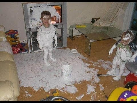 kids making a mess