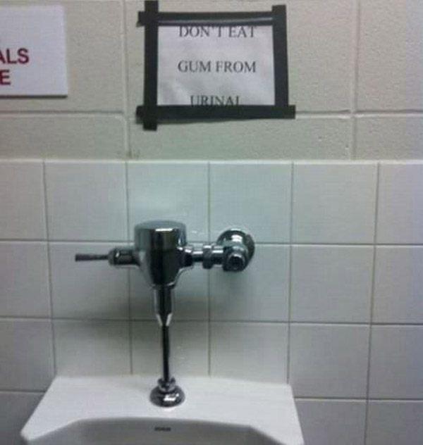 no-gum-urinal-eating